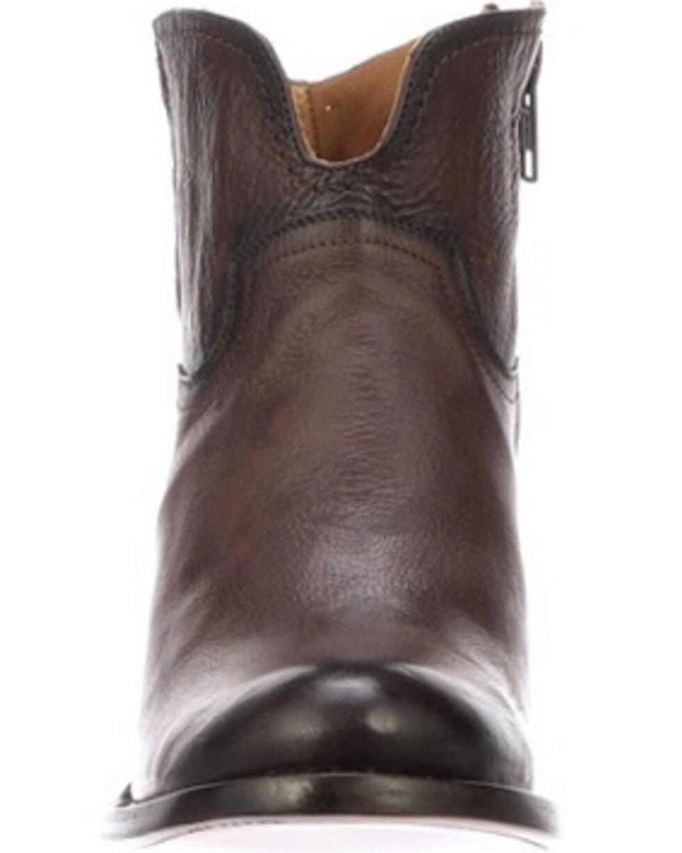 Lucchese Women's Ericka Western Booties - Round Toe, Cognac, hi-res
