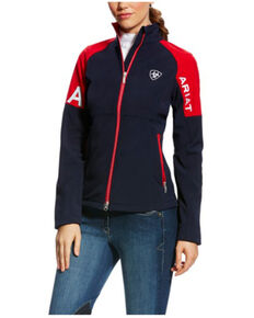 Ariat Women's USA Team Global Softshell Jacket , Navy, hi-res