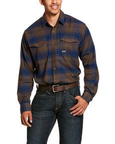 Ariat Men's Drake Rebar Flannel Durastretch Long Sleeve Work Shirt - Tall , Multi, hi-res