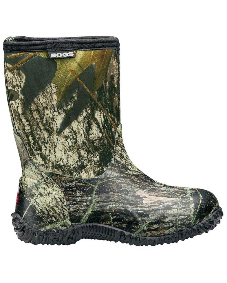 Bogs Boys' Classic Mid Mossy Oak Waterproof Boots - Round Toe, Moss Green, hi-res