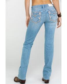 Shyanne Women's Signature Pocket Light Straight Jeans , Blue, hi-res