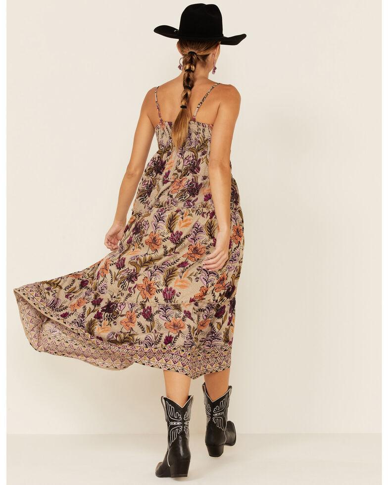 Nostalgia Women's Dove Floral Print Maxi Dress, Multi, hi-res