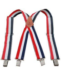 Hawx Men's Red, White, & Blue Work Suspenders, Red/white/blue, hi-res