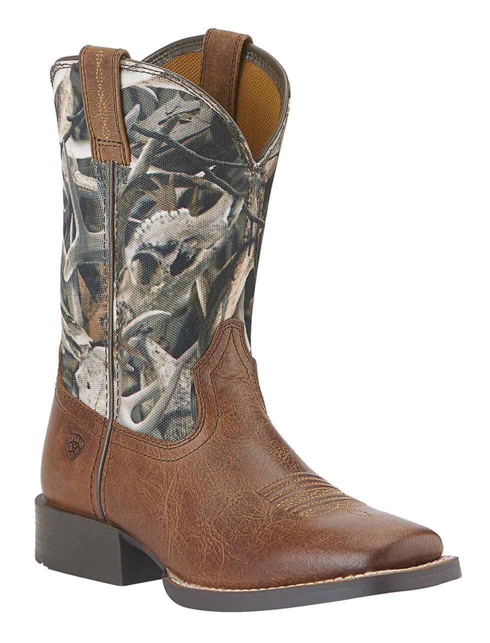 Ariat Boys' Quickdraw Camo Boots - Square Toe, , hi-res