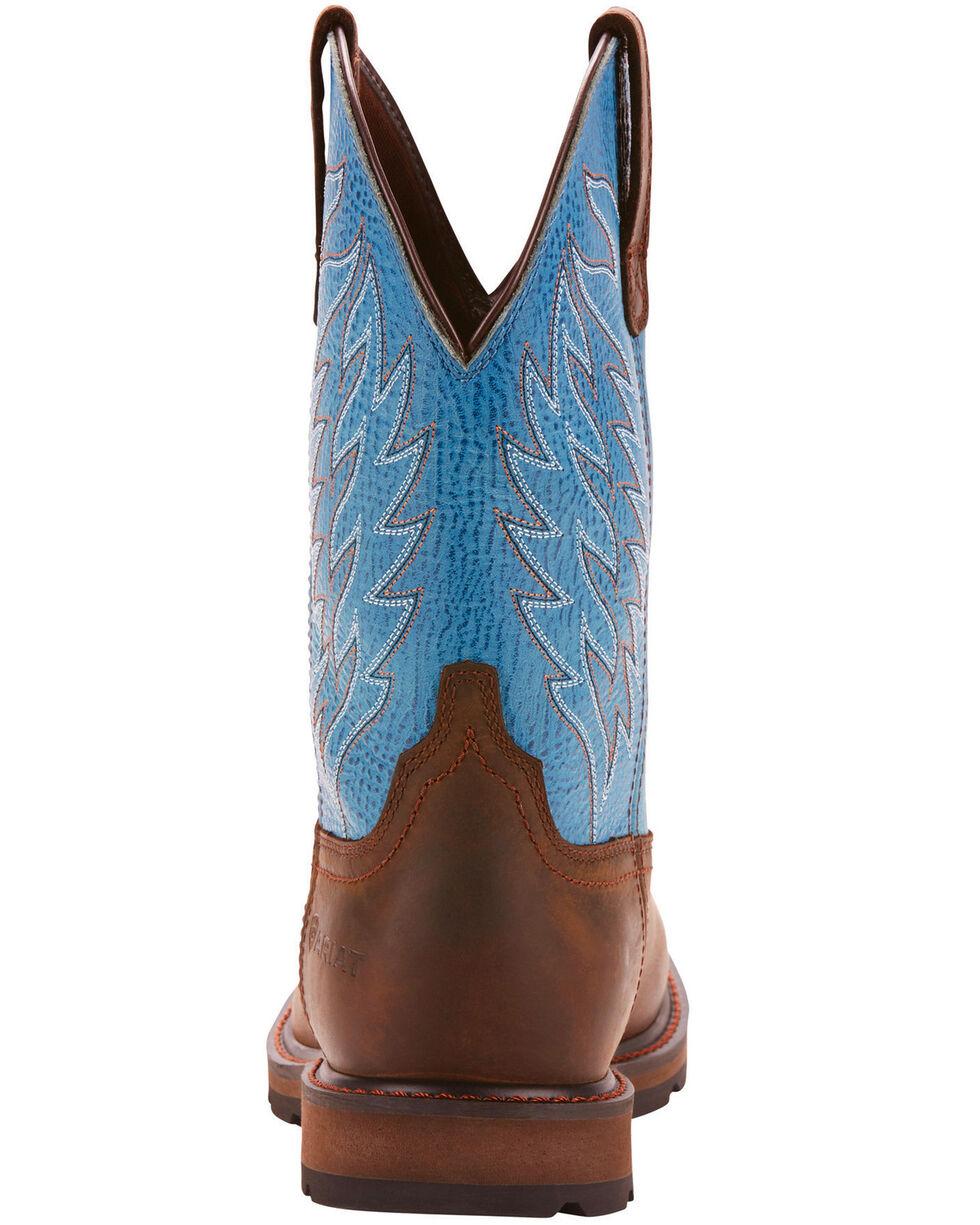 Ariat Men's Brown Groundbreaker H20 Boots - Square Toe , Dark Brown, hi-res