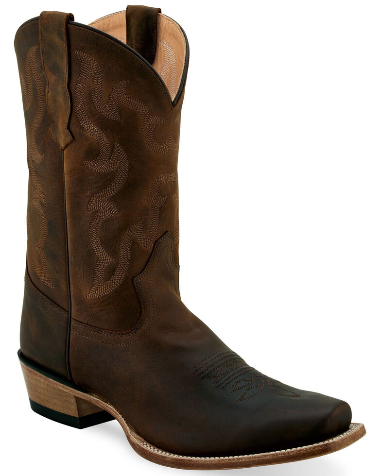 Old West Men's Brown Western Boots - Narrow Square Toe, Brown, hi-res