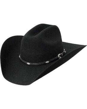 Master Hatters Men's Black Dawson 3X Wool Felt Cowboy Hat, Black, hi-res