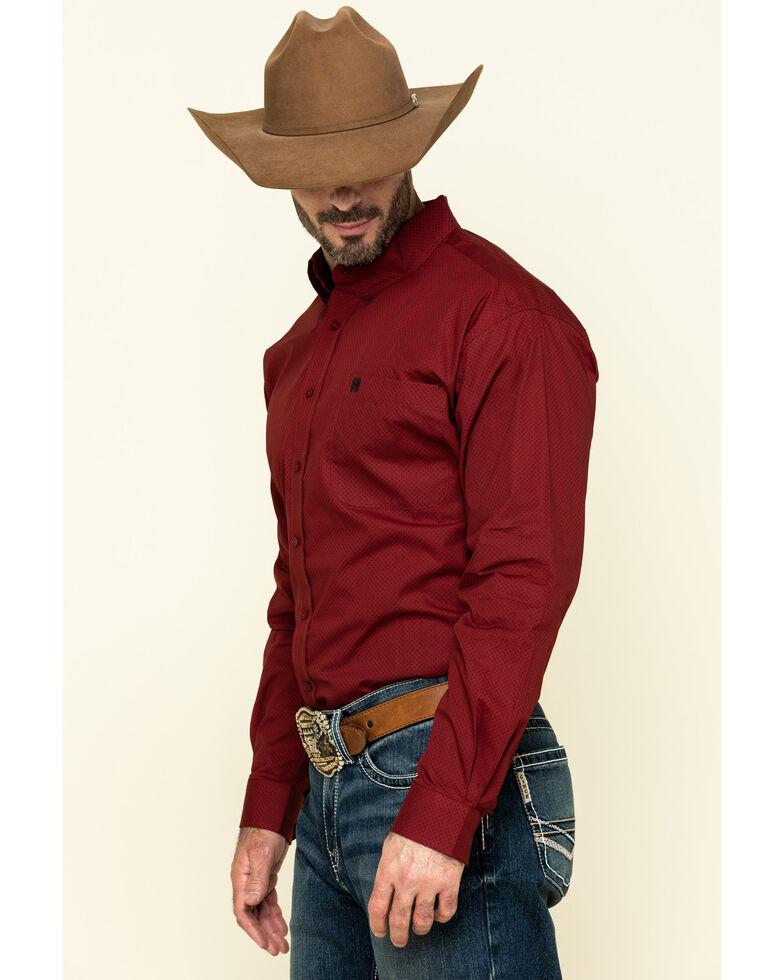 Cinch Men's Red Circle Geo Print Long Sleeve Western Shirt , Red, hi-res