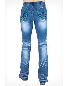Cowgirl Tuff Women's Fiesta Jeans, Blue, hi-res