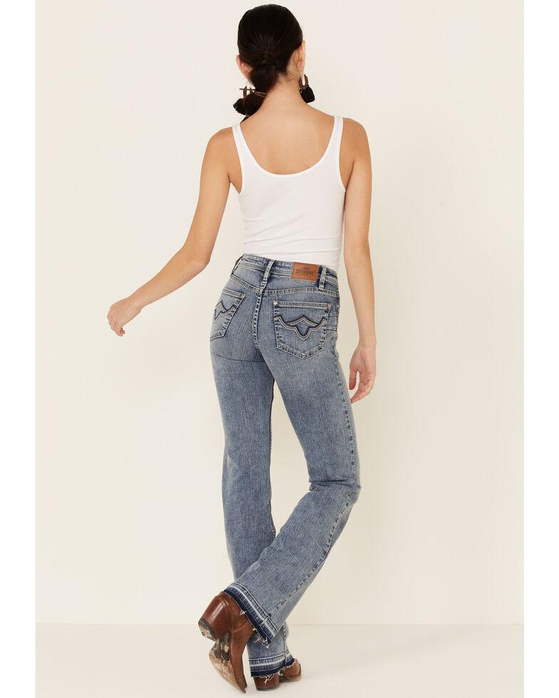 Shyanne Life Women's Mid-Rise Bootcut Riding Jeans, Medium Blue, hi-res