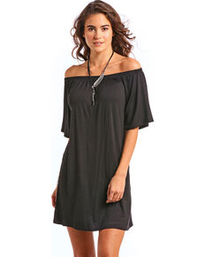 44889fc8e972 Panhandle Women's Black Off the Shoulder Knit Swing Dress