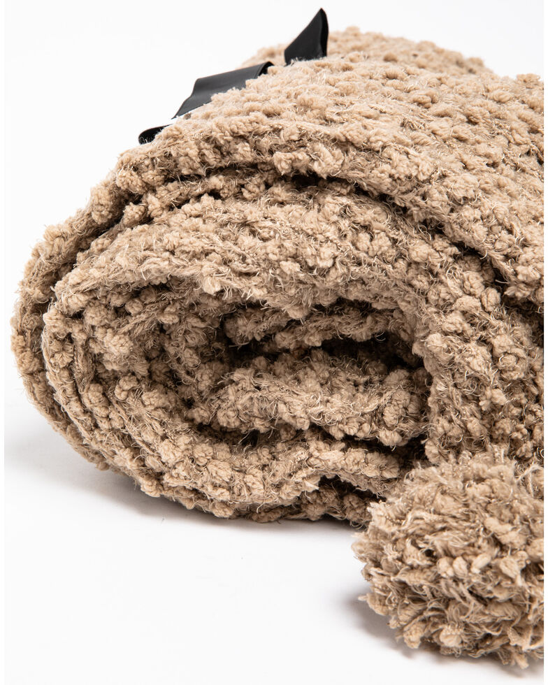 BB Ranch Chunky Taupe Knit Throw Blanket, Taupe, hi-res