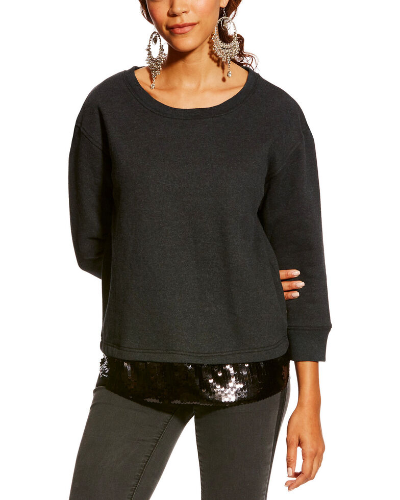 Ariat Women's Black Dazzle Pullover , Black, hi-res