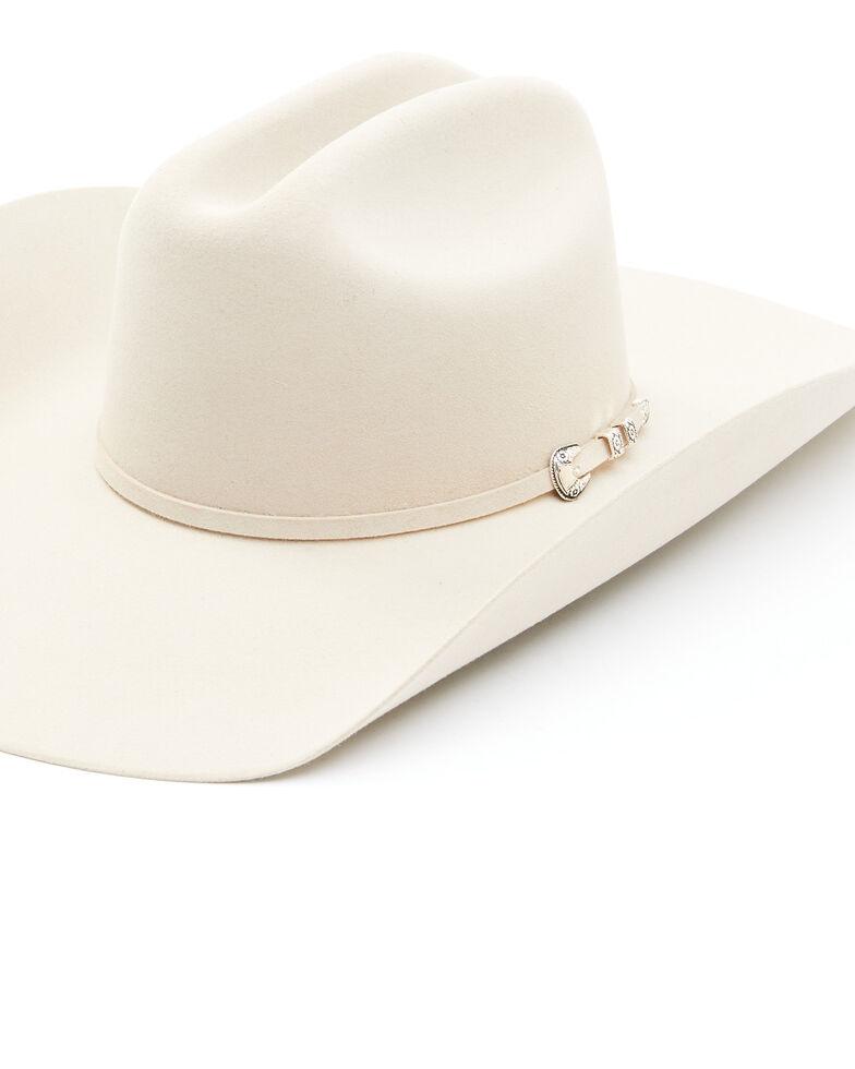 Stetson Men's 6X Bar None Fur Felt Western Hat, Silverbelly, hi-res