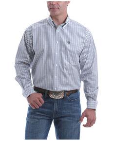 Cinch Men's Grey Stretch Plaid Long Sleeve Button-Down Western Shirt , Grey, hi-res