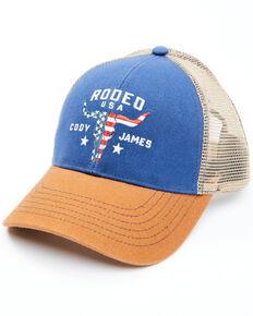Cody James Men's Rodeo Steer Head Mesh-Back Ball Cap , Blue, hi-res