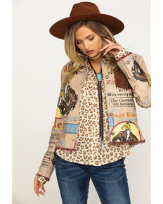 Double D Ranchwear Women's Elk Horn Range Rider Jacket , Multi, hi-res