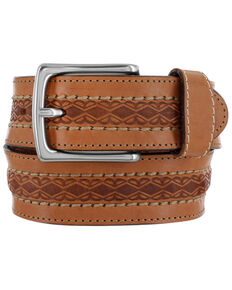 Justin Men's Dodge City Western Belt, Brown, hi-res