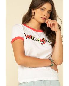 Wrangler Modern Women's White Retro Logo Ringer Tee, White, hi-res