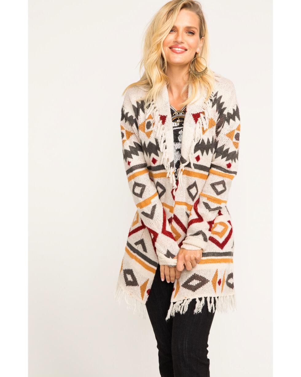 Idyllwind Women's Canyon Boyfriend Cardigan Sweater, Ivory, hi-res