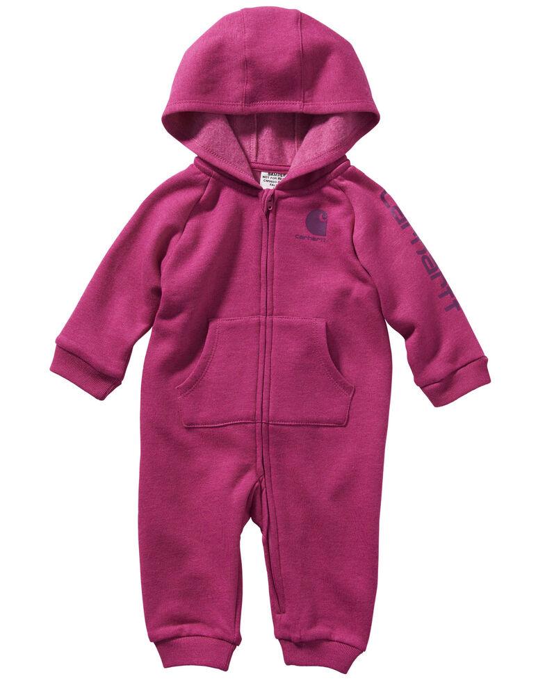 Carhartt Infant Girls' Pink Fleece Coveralls, Pink, hi-res