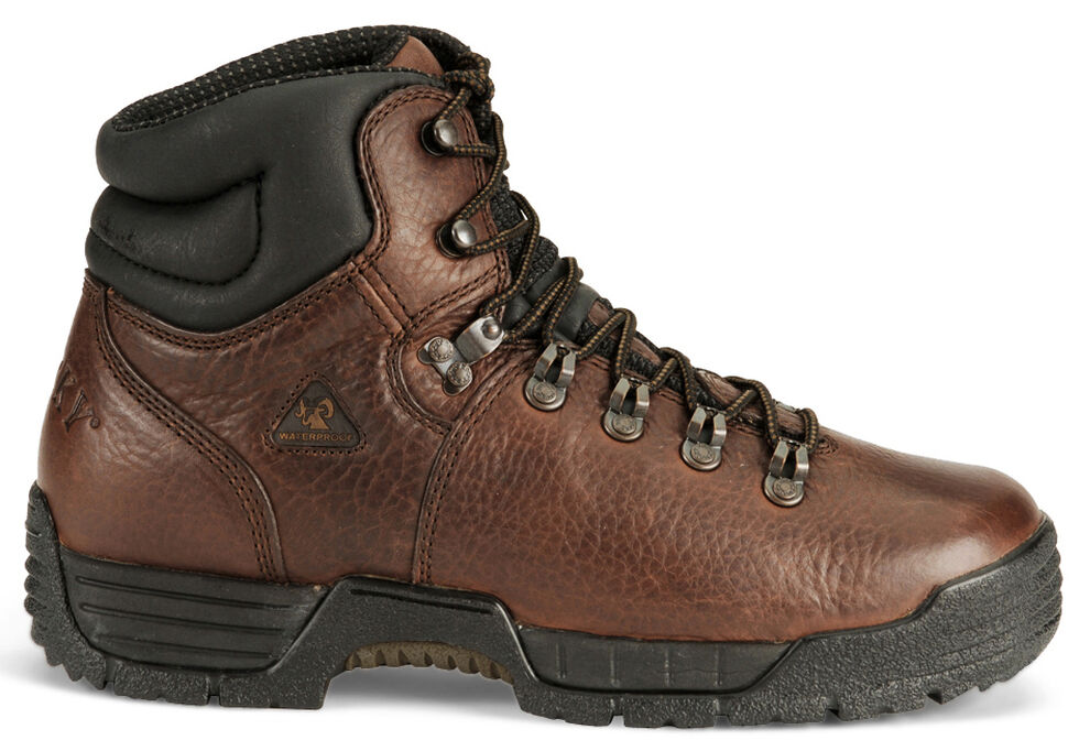 """Rocky 6"""" Non-Steel Toe Mobilite Work Boots, Brown, hi-res"""