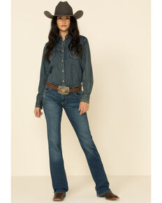 Wrangler Women's Ruth Bootcut Jeans, Blue, hi-res