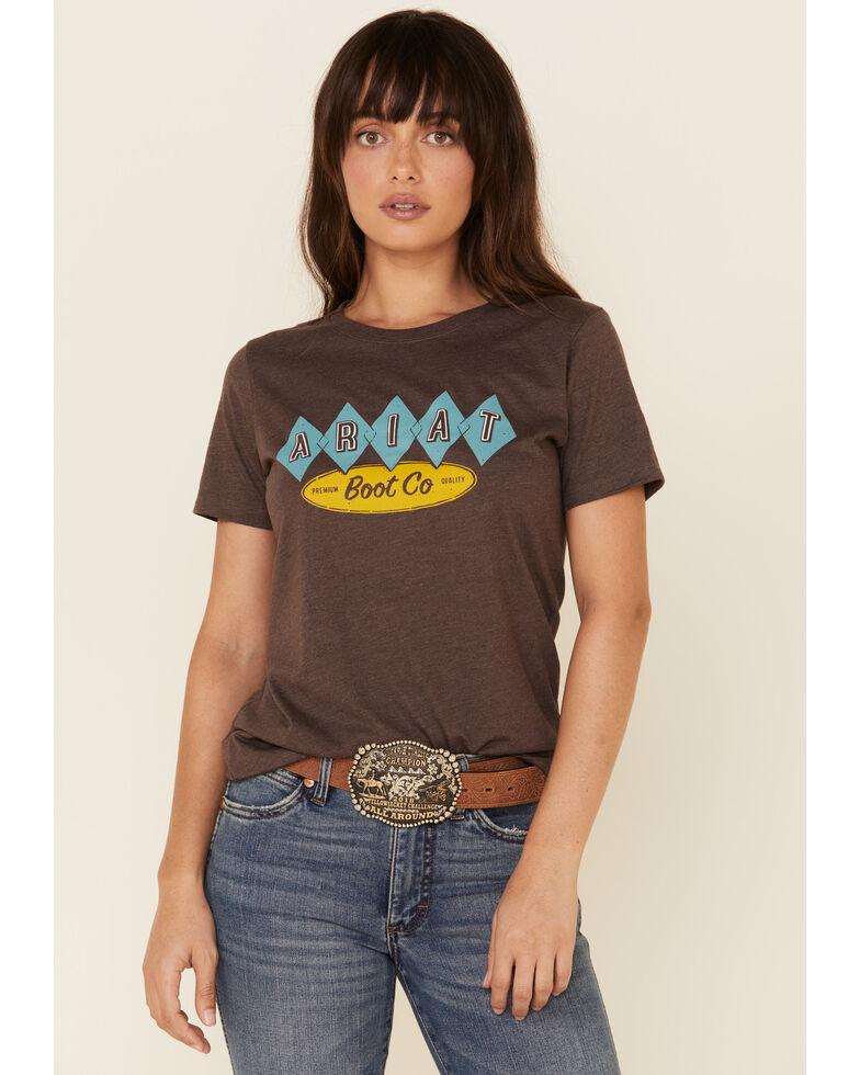 Ariat Women's Brown Heather Desert Motel Graphic Tee , Brown, hi-res
