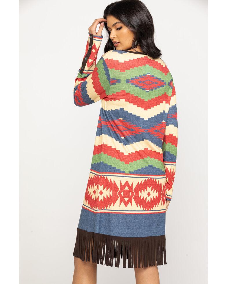 Tasha Polizzi Women's Madrean Blanket Pattern Nellie Dress, Multi, hi-res