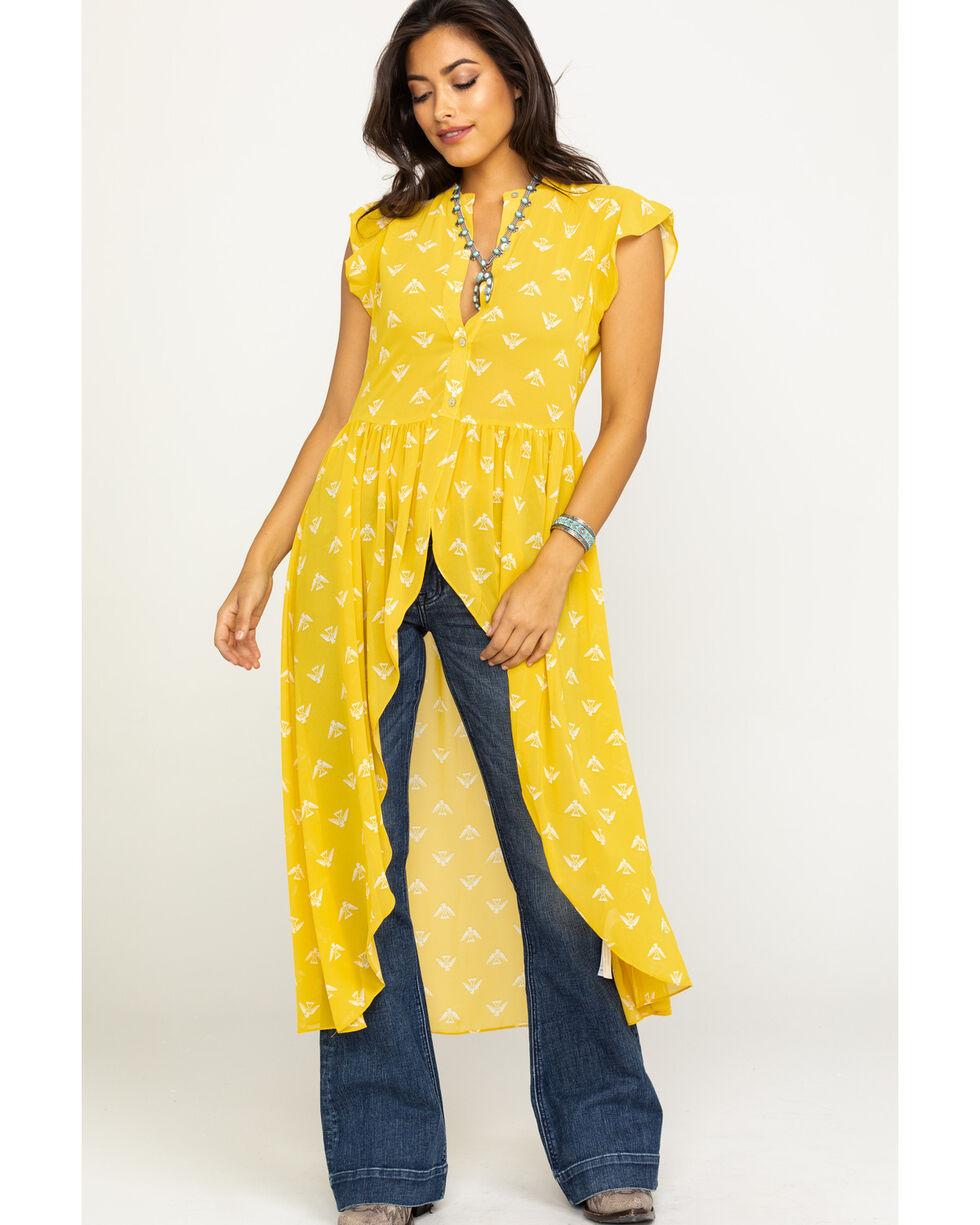 Ariat Women's Mane Stage Yellow Top , Yellow, hi-res