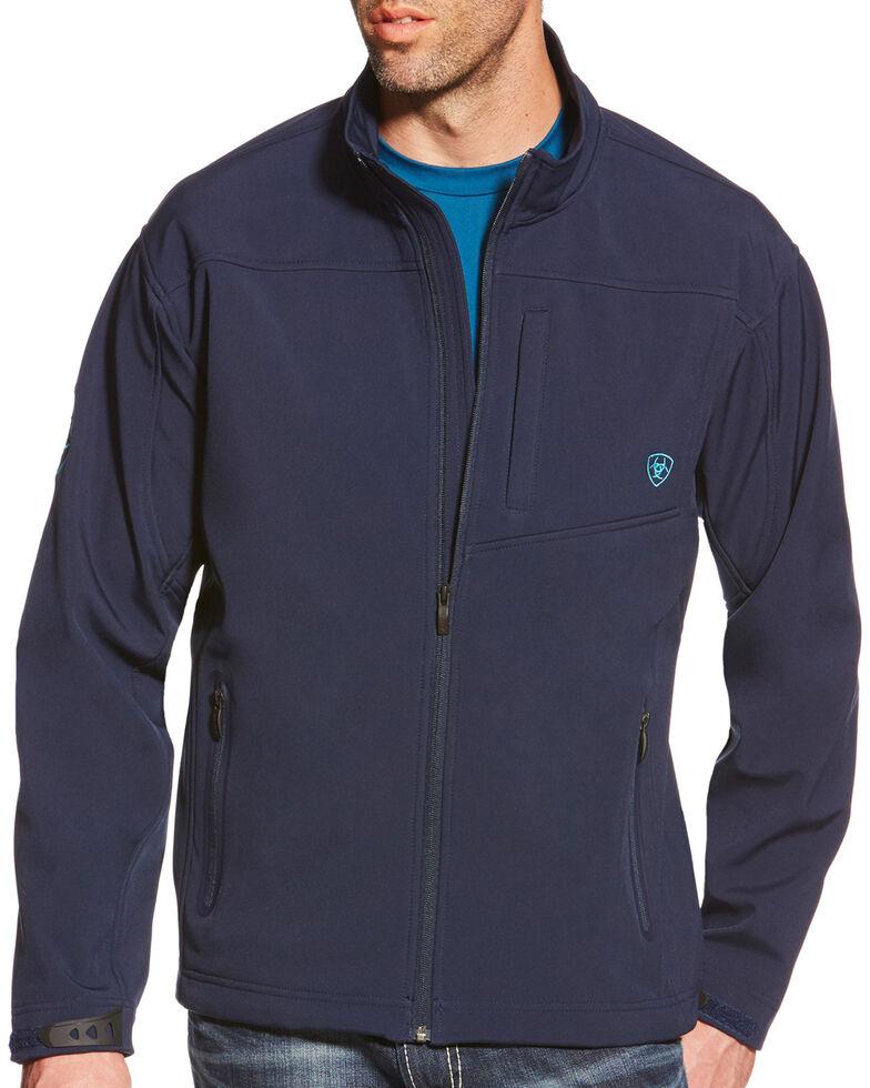 Ariat Men's Team Logo Softshell Jacket, Navy, hi-res