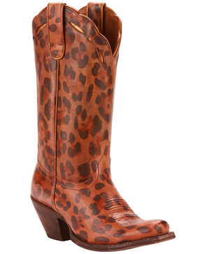 Ariat Women's Leopard Larue Western Boots - Narrow Square Toe , Leopard, hi-res