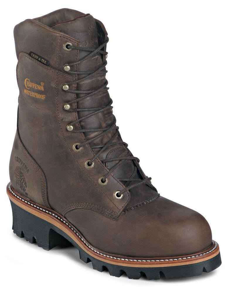 """Chippewa Arador Bay Apache Waterproof 9"""" Logger Boots - Round Toe, Bay Apache, hi-res"""