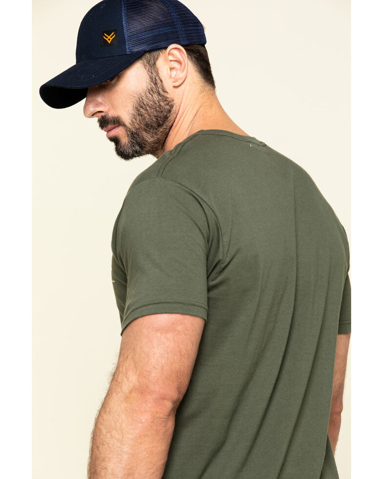 Ariat Men's Green Fragment Buckle Camo Graphic Short Sleeve T-Shirt , Brown, hi-res