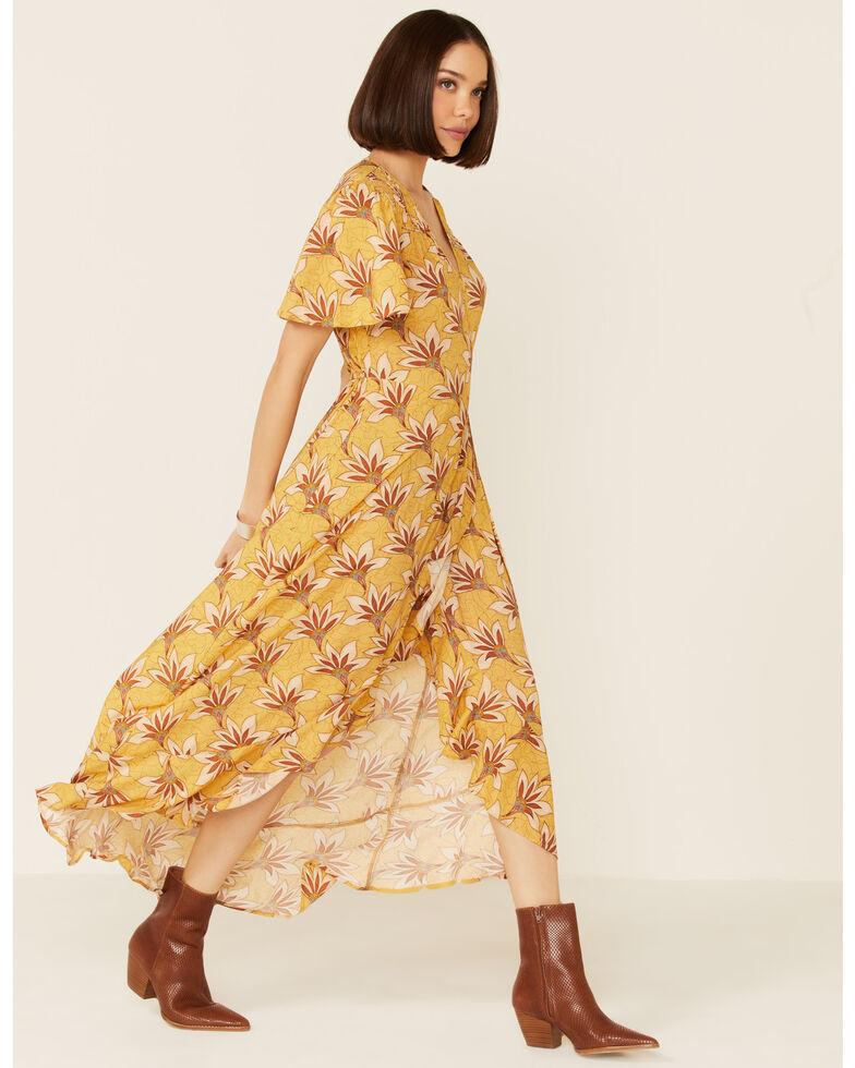 Band of Gypsies Women's Floral Amelie Dress, Mustard, hi-res