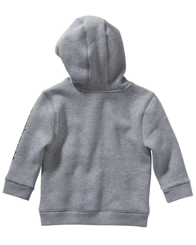 Carhartt Toddler Boys' Grey Logo Hooded 1/2 Zip Pullover Sweatshirt , Grey, hi-res