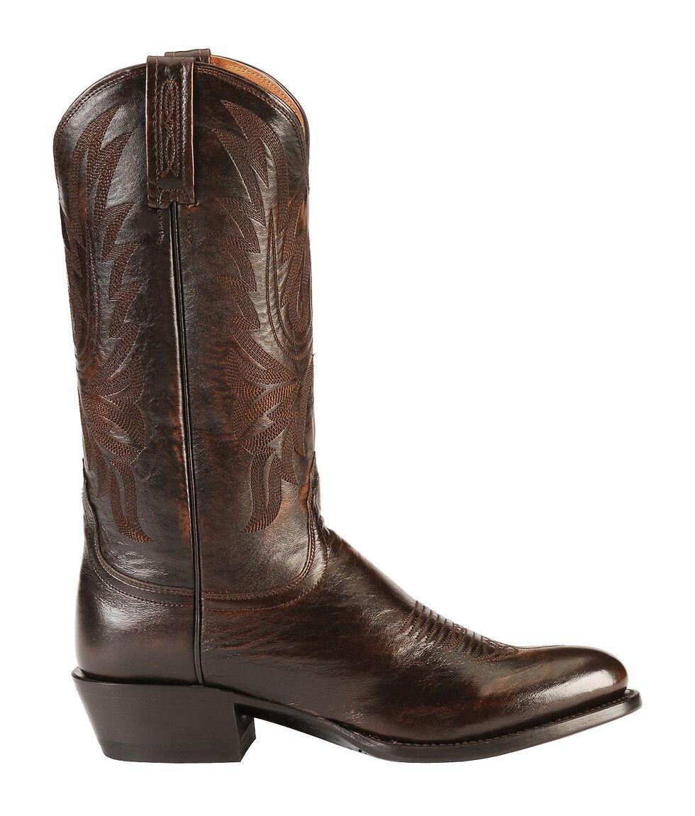 Lucchese Handmade Lonestar Calf Cowboy Boots - Medium Toe, Walnut, hi-res