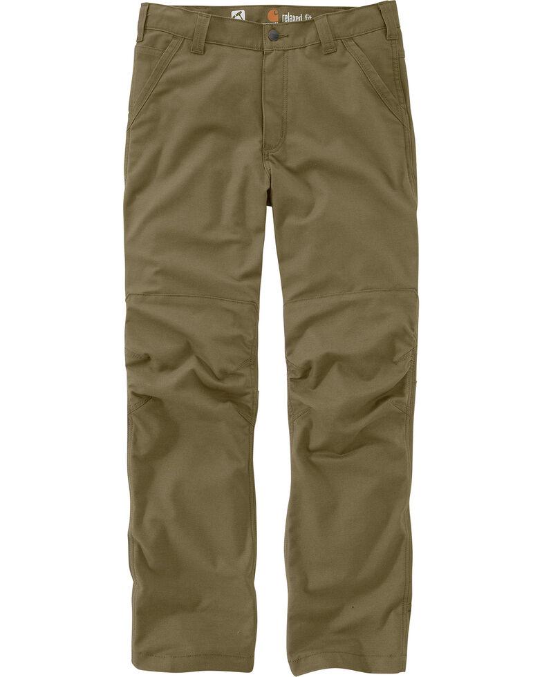 Carhartt Men's Full Swing Cryder Dungarees 2.0 Straight Work Pants , Olive, hi-res