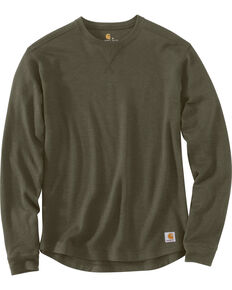Carhartt Men's Tilden Long Sleeve Crewneck Sweatshirt - Big & Tall, Moss Green, hi-res