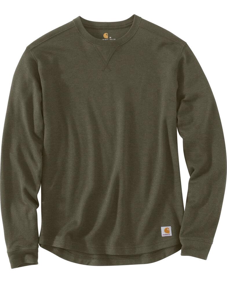 Carhartt Men's Tilden Long Sleeve Crewneck Sweatshirt - Big & Tall, Moss Green, hi-res