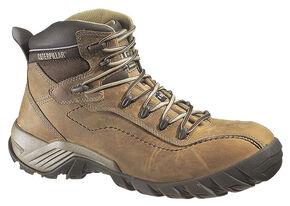 Caterpillar Men's Nitrogen Work Boots - Composite Toe , Brown, hi-res