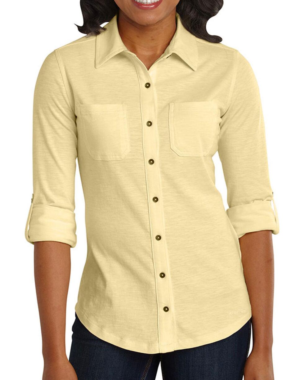 Carhartt Women's Yellow Medina Shirt , Yellow, hi-res