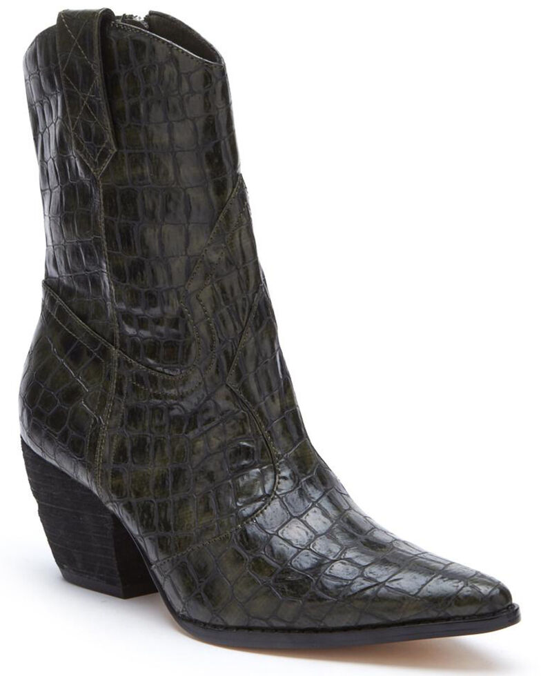 Matisse Women's After Dark Western Boots - Pointed Toe, Forest Green, hi-res