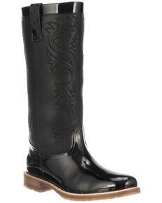 Lucchese Women's Black Waterproof Rain Boots - Round Toe, Black, hi-res
