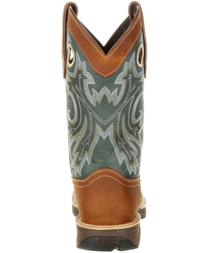 Durango Men's Rebel Pull-On Western Boots - Square Toe, Brown, hi-res