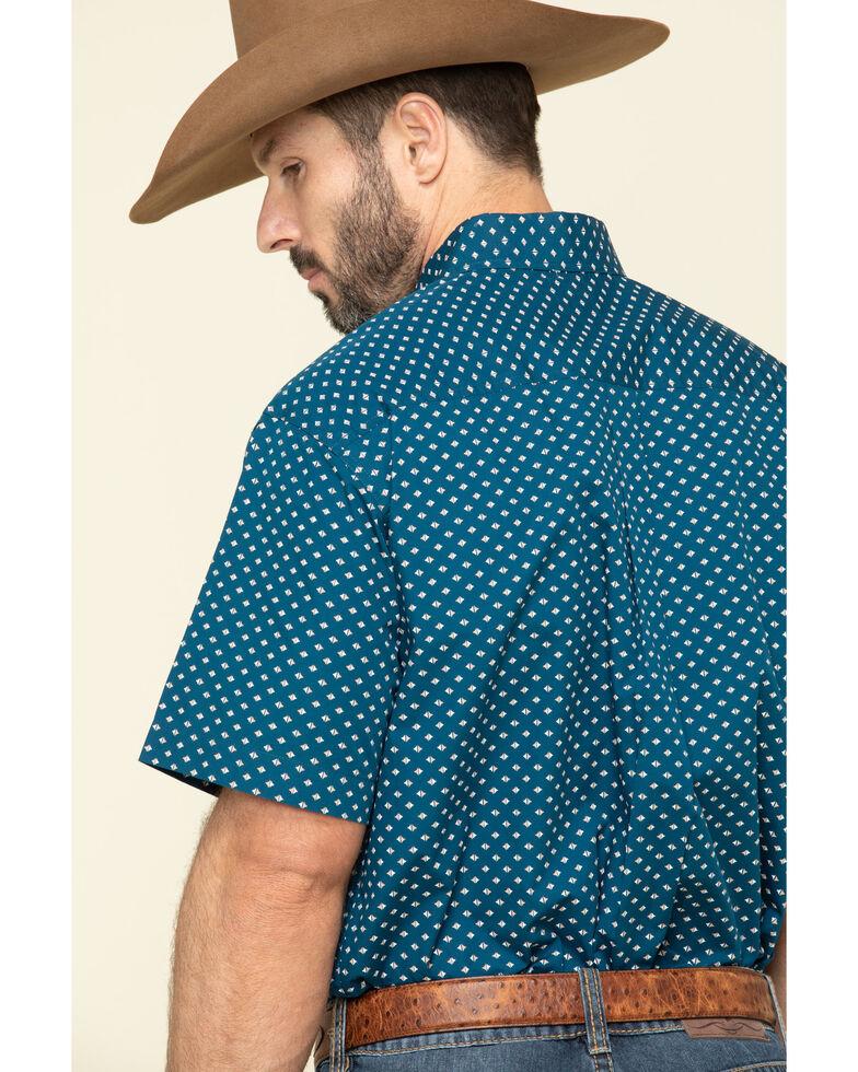 Cinch Men's Blue Diamond Geo Print Short Sleeve Western Shirt , Blue, hi-res