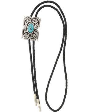 Cody James® Men's Aztec Turquoise Bolo Tie, Silver, hi-res