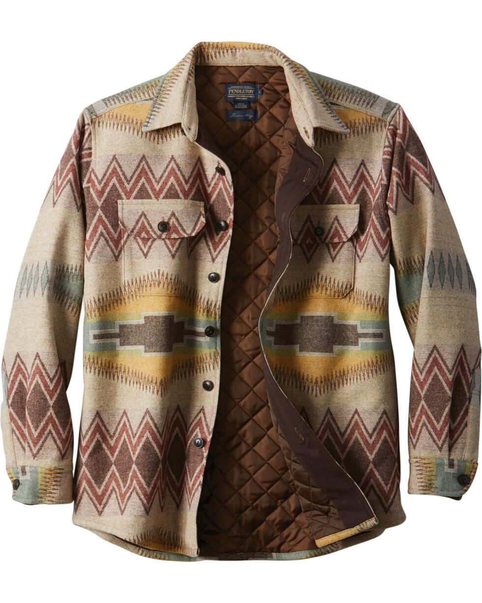 Pendleton Men's Tan Thomas Kay CPO Quilted Shirt Jacket, Tan, hi-res
