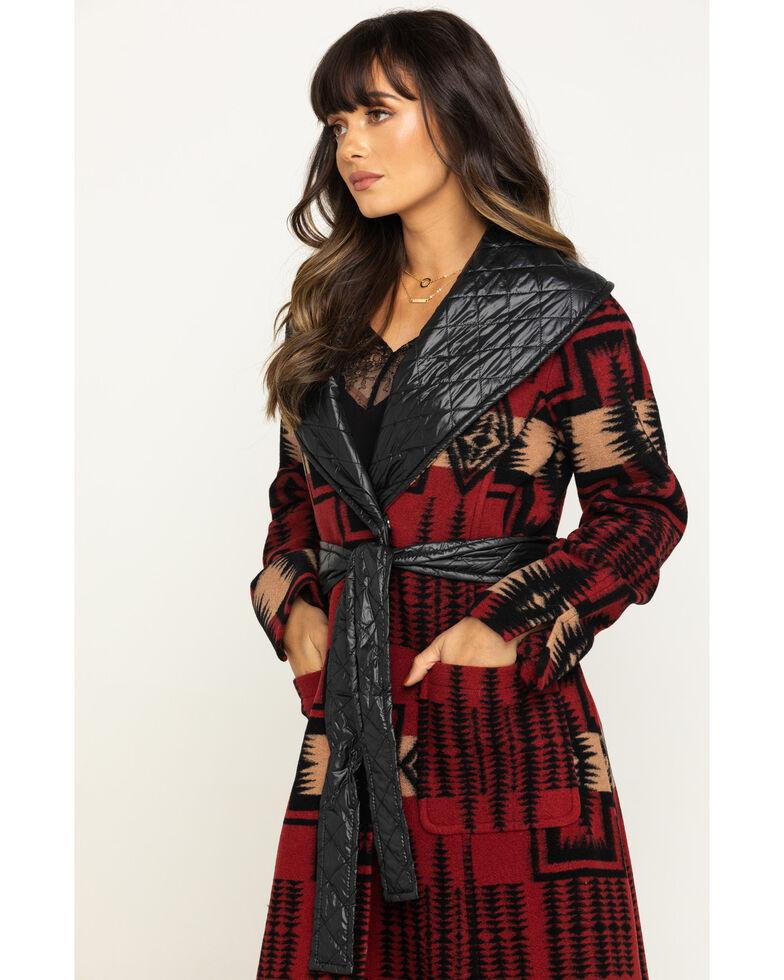 Pendleton Women's Quilted Trim Merrill Wrap Coat, Red, hi-res