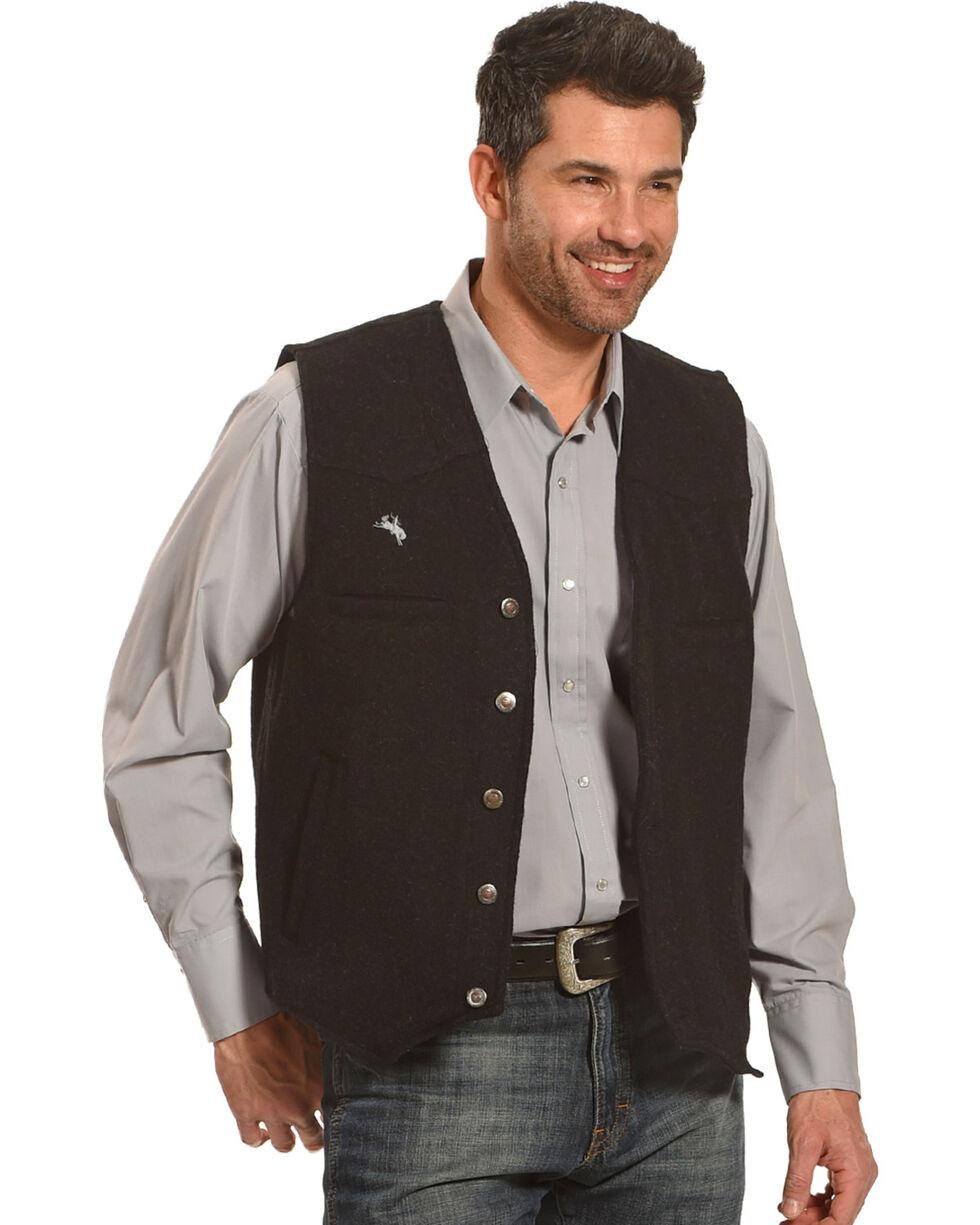Wyoming Traders Men's Black Wyoming Wool Vest, Black, hi-res